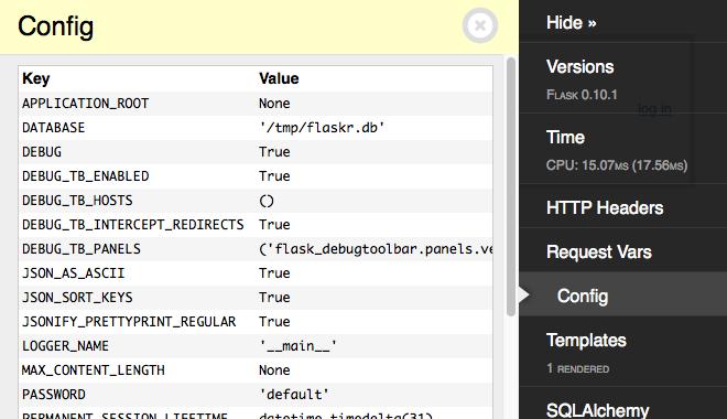 Built-In Panels — Flask-DebugToolbar 0 11 dev0 documentation